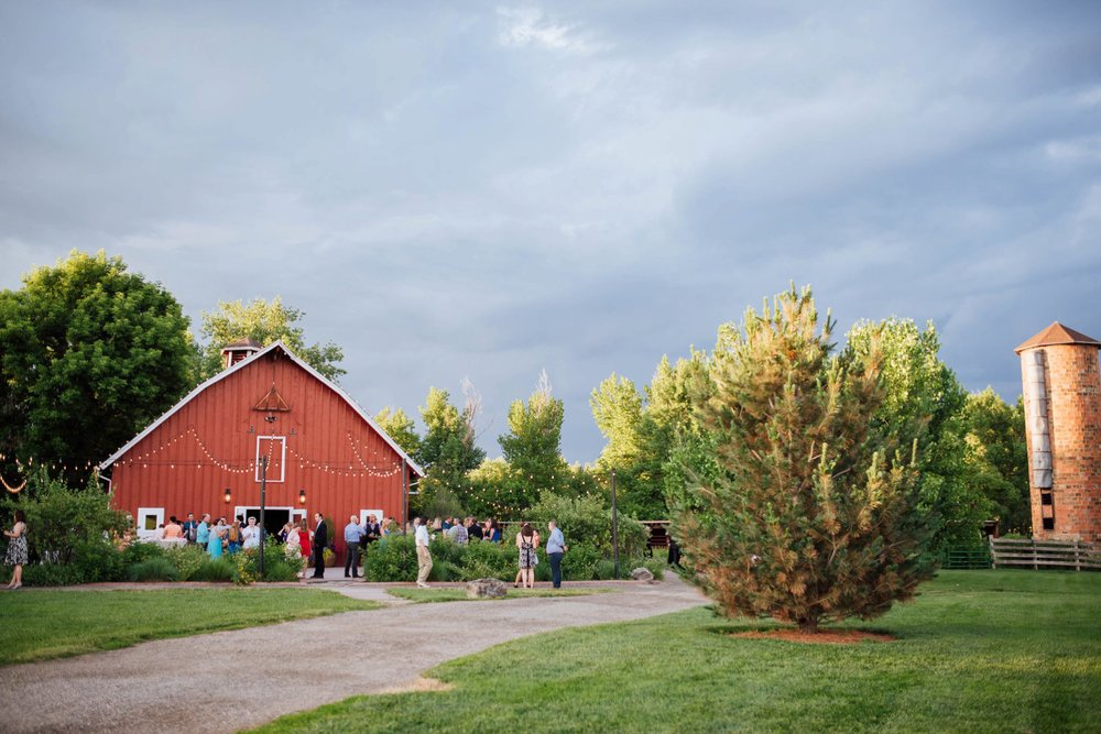 Chatfield farm at the Denver Botanic Gardens is a beautiful wedding ceremony and reception venue in Colorado. Photo by Maddie Mae Photography