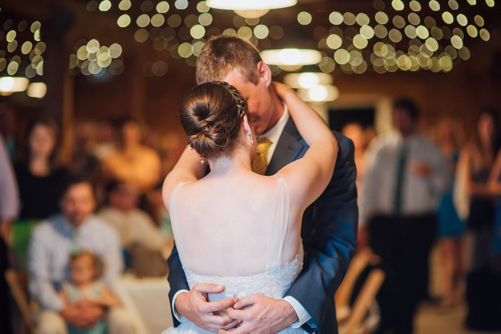 If I were to have my wedding reception in a barn, I would want my first dance to look exactly like this- so stunning!! Photo by Maddie Mae Photography