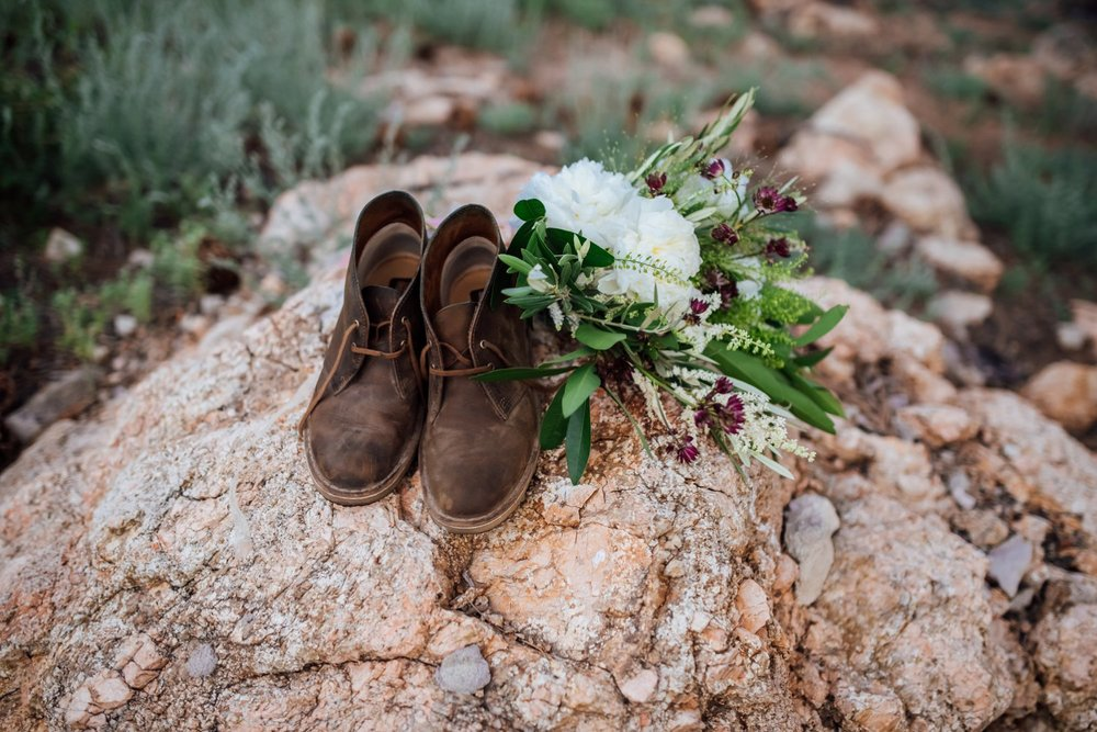 If I ever have a mountain wedding, brown boots are a must! Photo by Maddie Mae Photography