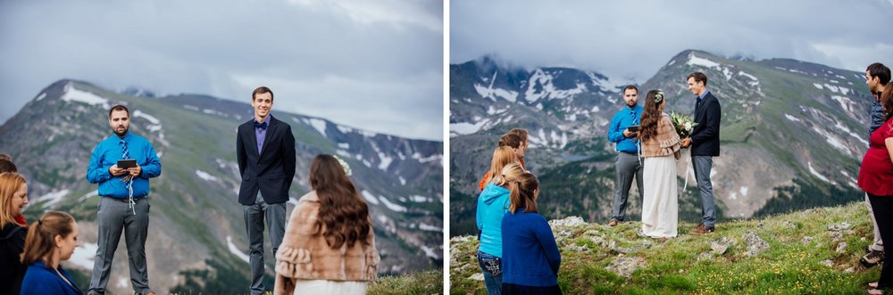 This is a beautiful wedding ceremony! It's so unique that it's on the top of a mountain! Photo by Maddie Mae Photography