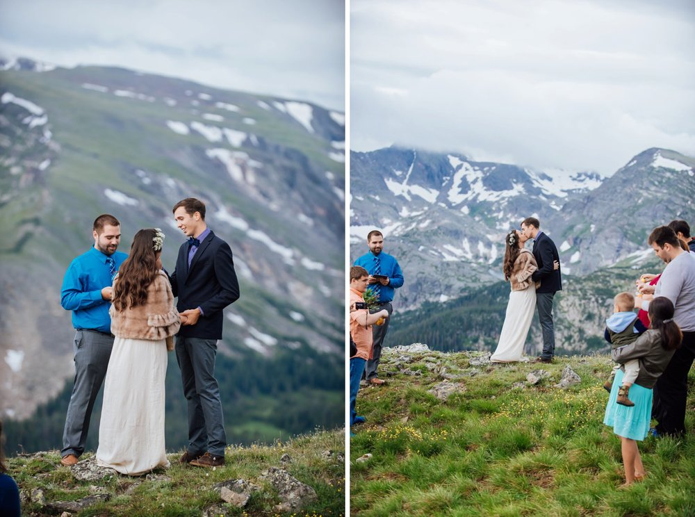 This is such an incredible wedding location. Rocky Mountain National Park is the greatest place for a mountain wedding. Photo by Maddie Mae Photography