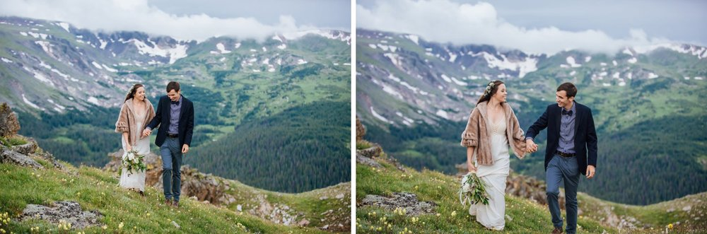 Rocky Mountain National Park in Colorado is a perfect mountain wedding location. Although it can get pretty cold up there even in the summer! Photo by Maddie Mae Photography