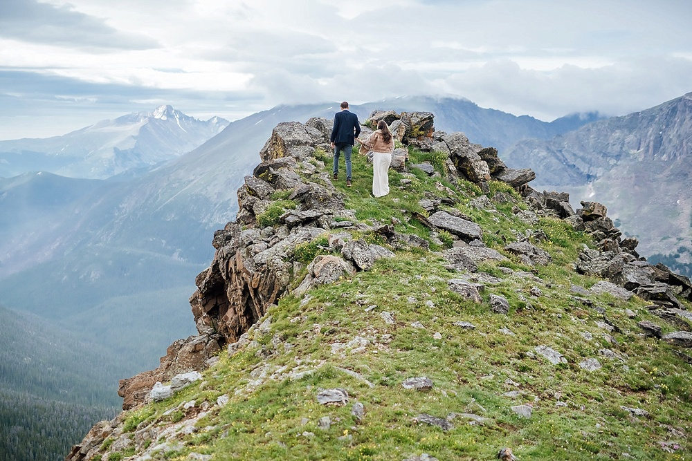 This epic elopement in Rocky Mountain National Park was photographed near Trail Ridge Road. Estes Park Wedding Photographer, Maddie Mae Photography.