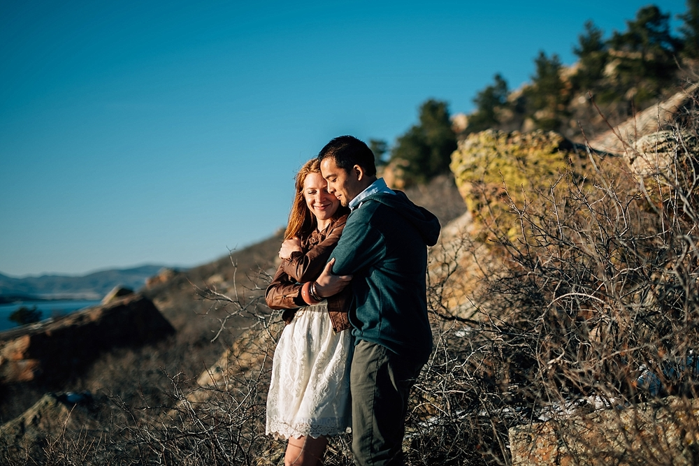 Horsetooth reservoir is so beautiful! I would love to have my engagement photos taken here!  Photo by Maddie Mae Photography