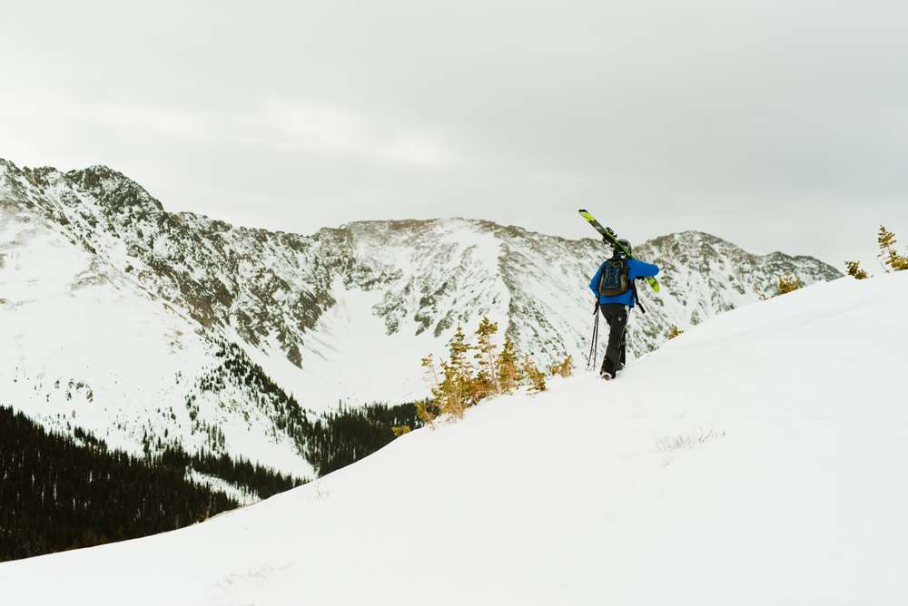 Skiing and getting married on the same day... Arapahoe Basin is the perfect spot to tie the knot for all those adventurous couples out there! | Adventurous wedding photos by Maddie Mae