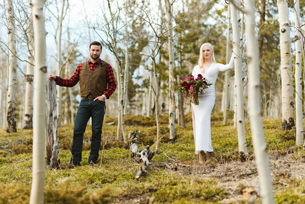 These Aspen trees are so gorgeous! Black Hawk, Colorado is a great place to elope or have an adventurous Rocky Mountain wedding! | Photo by Maddie Mae.