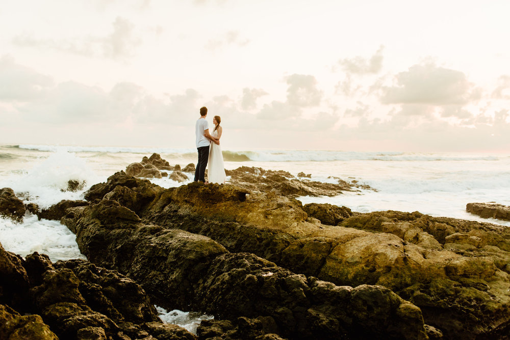 So in love with Costa Rica's rocky, rugged beaches on the Nicoya Peninsula! Santa Teresa Beach is definitely going to be an option when I get married! | Destination wedding photography by intimate Costa Rica wedding photographer, Maddie Mae.