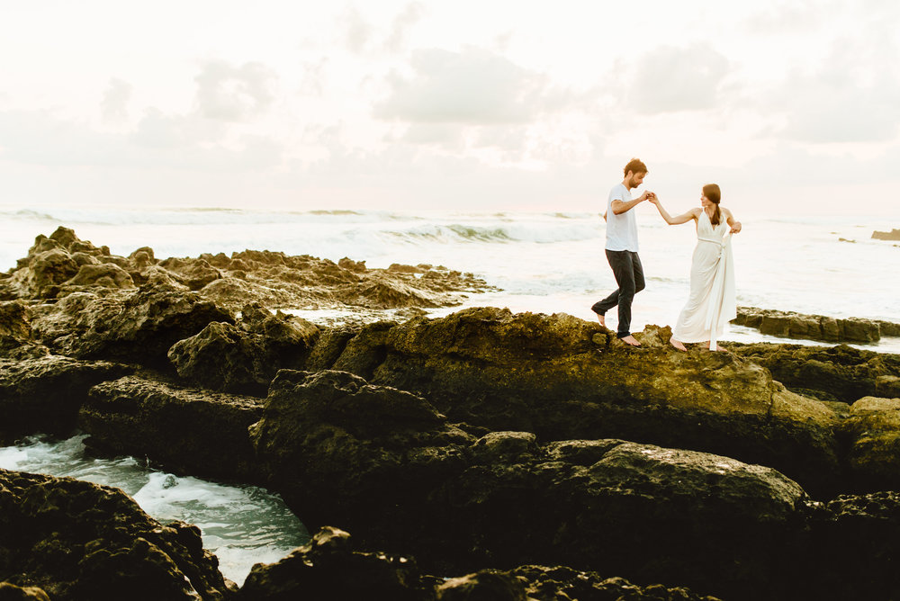 Stefan and Martina eloped on Santa Teresa Beach. I absolutely love Costa Rica's rugged, jungle beaches and can't wait for our destination elopement on the Nicoya Peninsula! | Beach wedding photography by destination wedding photographer, Maddie Mae.