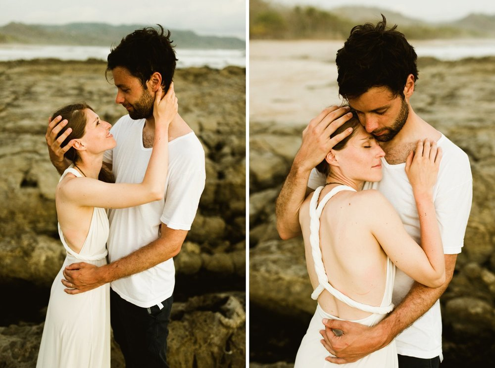 Santa Teresa Beach in Costa Rica is absolutely one of the prettiest destination wedding locations on the Nicoya Peninsula! I can't wait to elope here just like Stefan and Martina! | Beach wedding photography by destination wedding photographer, Maddie Mae.