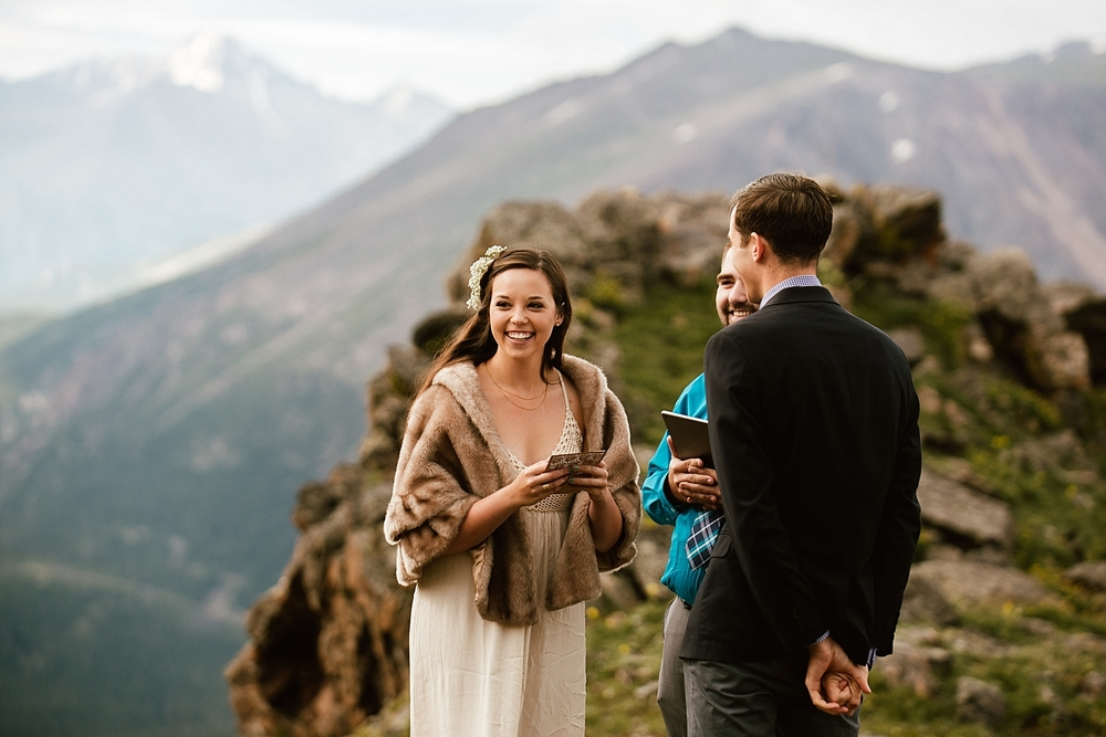 This intimate sunrise elopement in Estes Park couldn't have been more special! Hiking elopements are always my favorite! | Hiking elopement photos by Colorado wedding photographer, Maddie Mae.