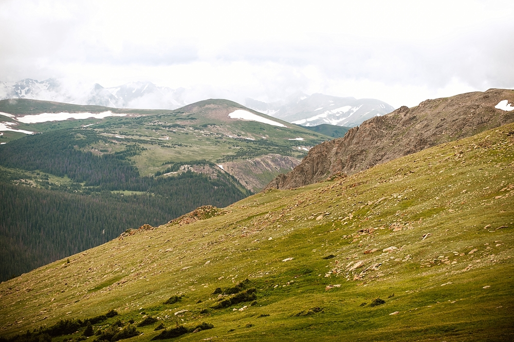 So in love with the views in RMNP! It's got to be one of the best mountain wedding locations in Colorado! | Trail Ridge Road ceremony location photos by adventure wedding photographer, Maddie Mae.