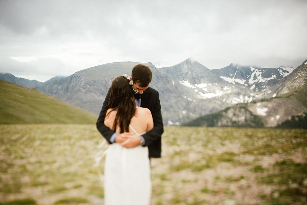 Jessica and Edward's wedding photos turned out incredible! I can't wait to see more weddings in Estes Park! | Mountain elopement photos by adventure wedding photographer, Maddie Mae.