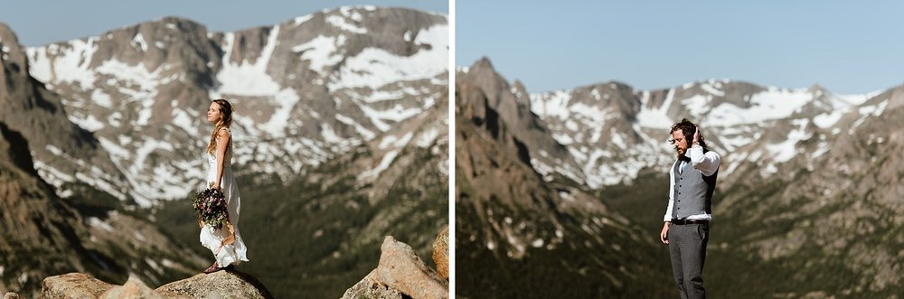 I am so in love with this amazing elopement in mountains! I love the idea of having an adventurous hiking elopement! | Mountain elopement photos by Colorado wedding photographer, Maddie Mae.
