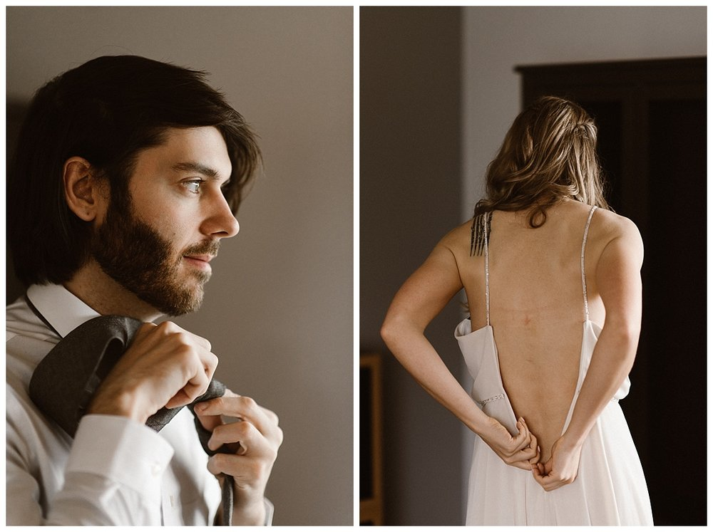 Anticipations rose and their excitement could be felt through the house in Reykjavik as they began to put on their wedding clothes. Adjusting ties and zipping up dresses. This intimate Iceland elopement photographed by Maddie Mae.
