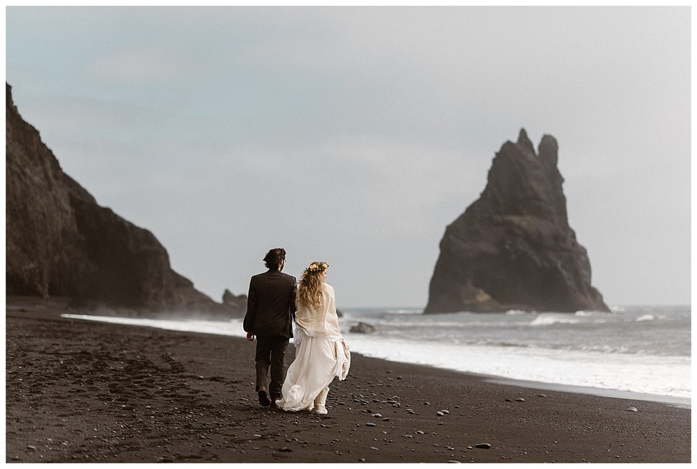 This adventurous couple threw tradition to the wind, packed their bags and went to Iceland with their traveling wedding photographer Maddie Mae, for their intimate elopement.
