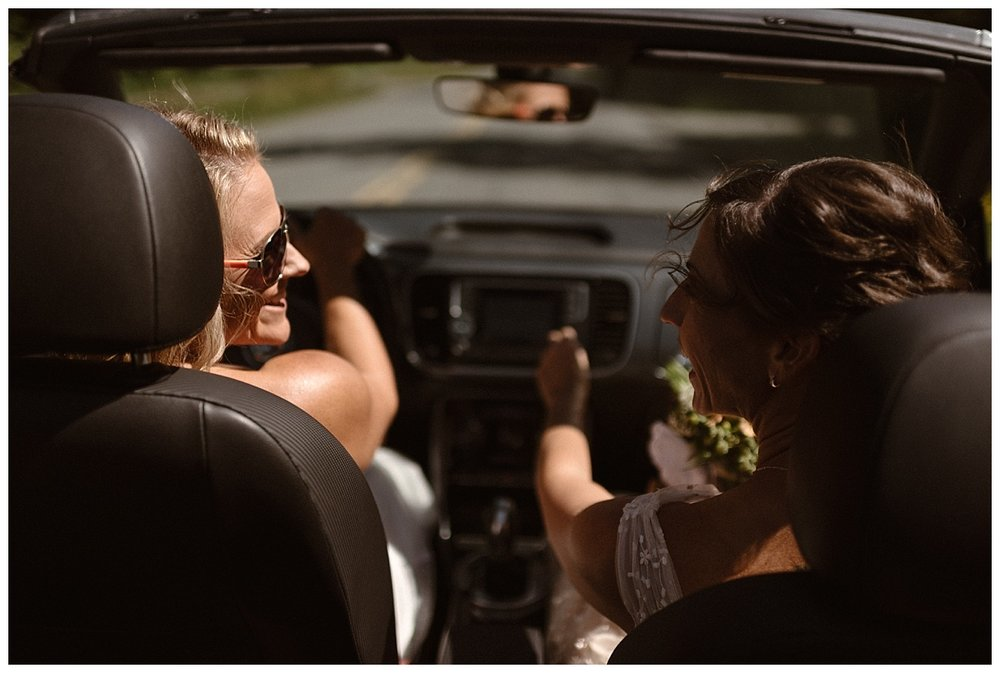 With the sun shinning down on them they drove to the hanger where they would be taking off for their adventurous helicopter elopement through Tofino BC with their traveling wedding photographer Maddie Mae.