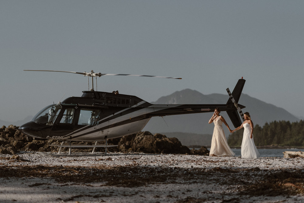 Vancouver Island B.C. Helicopter Elopement    Kari & Karin    Check it Out!