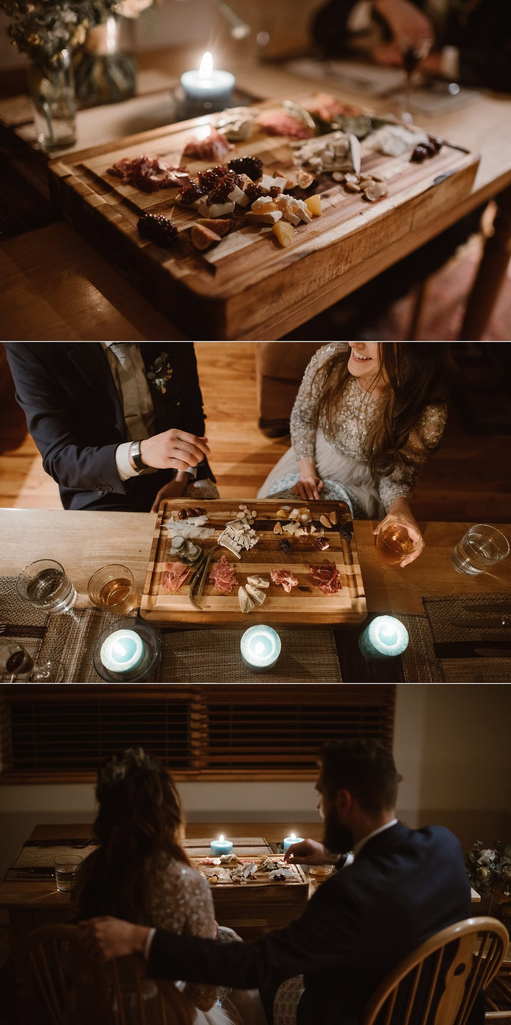 Jen and Dan's private elopement allowed them to focus on what was most important to them - adventure and food! After an epic hike through Yankee Boy Basin to say their vows in private they moseyed back to their cabin for an intimate meal prepared for them by a private chef. Photos of this all day adventure by traveling elopement photographer Maddie Mae.