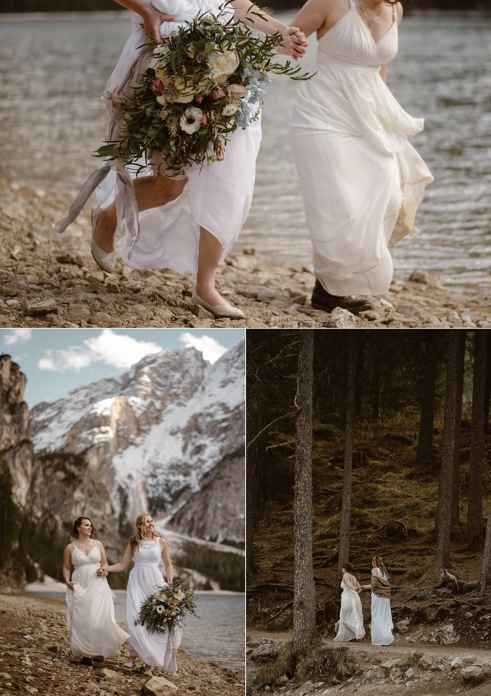 Running off into the forest, starting off their wedded life as they had always dreamed - with an adventure through Northern Italy, no one around but their intimate wedding photographer Maddie Mae to capture each step of their incredible day.