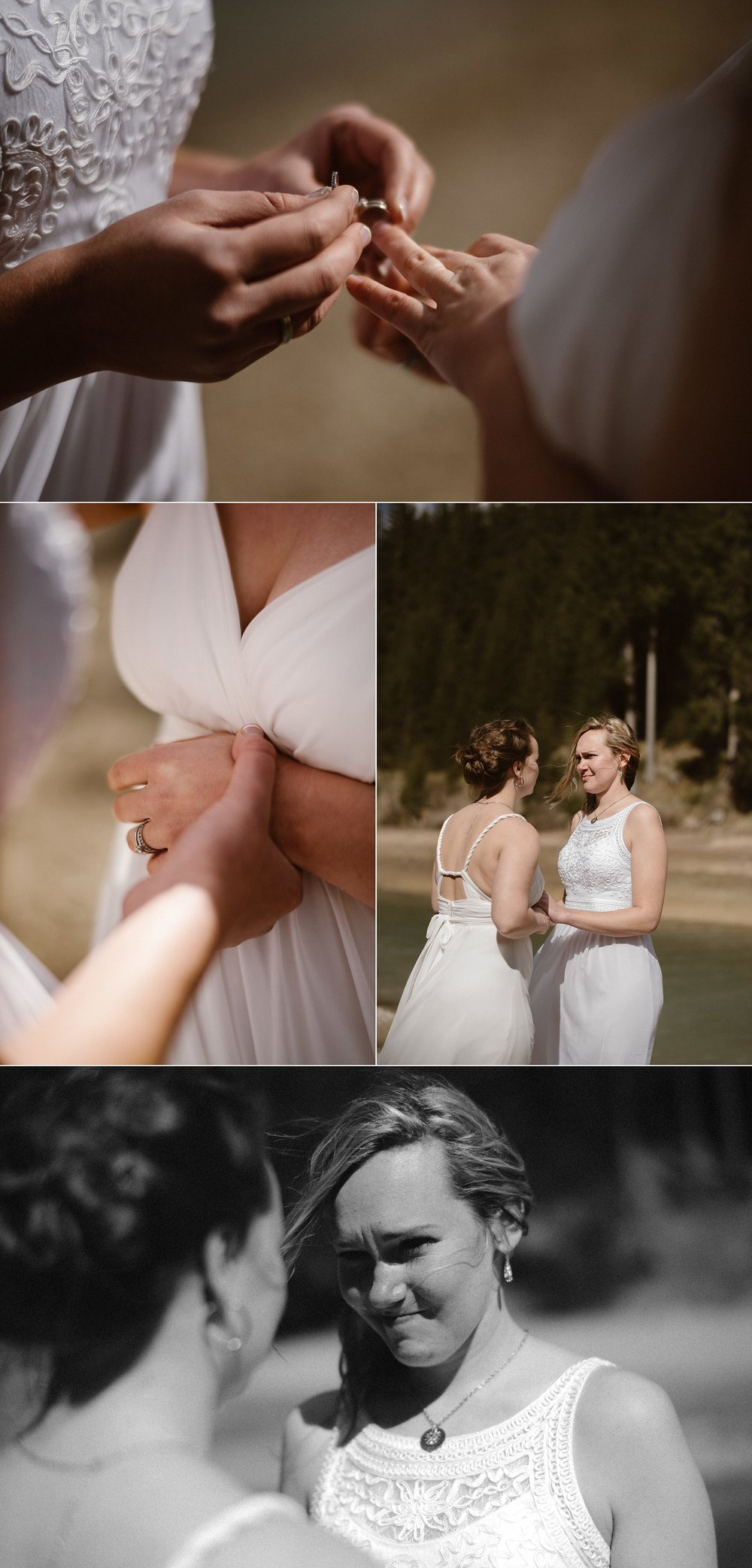 Holding tightly to each other and making promises for their future while the wind blew next to Lake Braise at the foothills of the Dolomite mountains where these gorgeous brides eloped. Adventurous wedding photographer Maddie Mae captured each tender moment of this intimate Italian elopement.