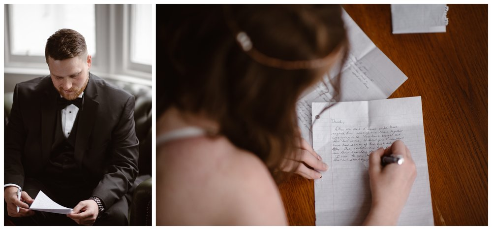 Elissa and Daniel got ready in separate rooms of an old hotel outside Kilchurn Castle in Scotland ahead of their destination elopement. Photo by Maddie Mae, Adventure Instead.
