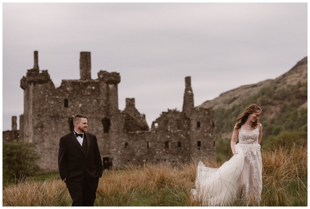 Daniel and Elissa chose to elope in Scotland, even though they had never been before. A destination elopement can turn into a true adventure for couples if they choose to experience something new together. Photo by Maddie Mae, Adventure Instead.