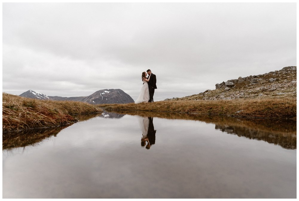Rivers and waterfalls snake through the Scottish Highlands and we explored them on foot for Elissa and Daniel's elopement day. Photo by Maddie Mae, Adventure Instead.