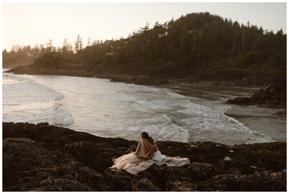 The benefits of eloping at sunset include more seclusion and better light at the end of your elopement ceremony day. Photo by Maddie Mae Photo, Adventure Instead.