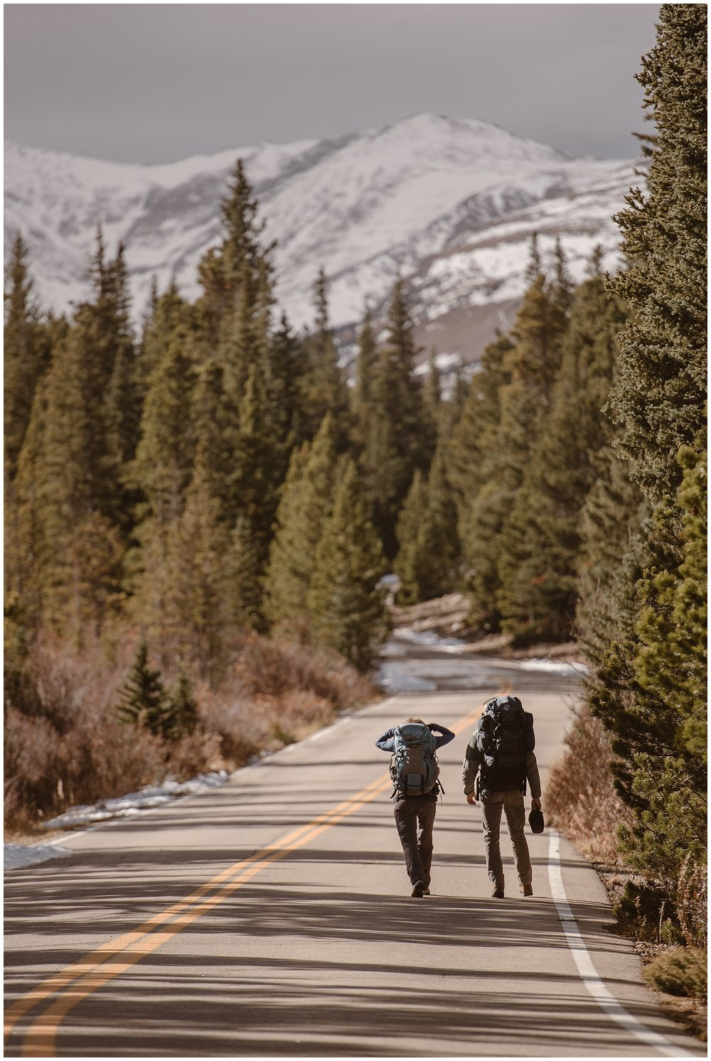 You can hike on your elopement wedding day! Bring all your gear and plan to carry your wedding day outfits. Where you elope and how you say your vows matters! Photo by Maddie Mae, Adventure Instead Elopement Photographers.