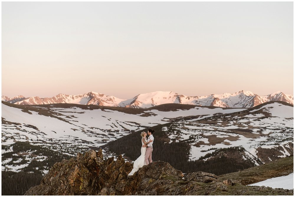 Where you elope and how you say your vows matters! Photo by Maddie Mae, Adventure Instead Elopement Photographers.