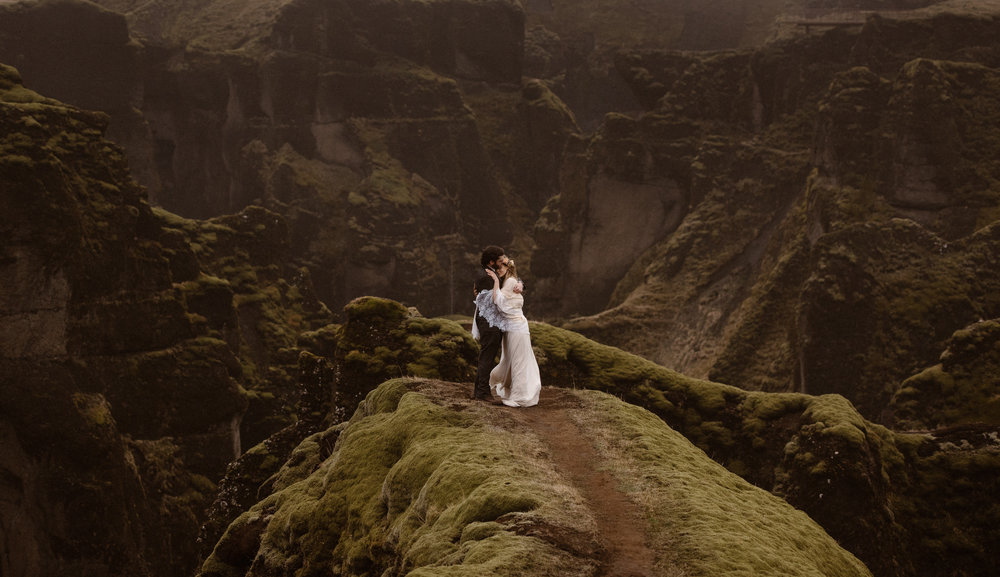 Iceland is a popular spot for elopements with stunning scenery. It is a great location idea for your elopement ceremony. We've complied a list of many more elopement locations around the world to help you plan the best elopement ceremony. Photo by Adventure Instead, Maddie Mae, Destination Wedding Elopement Photographers.