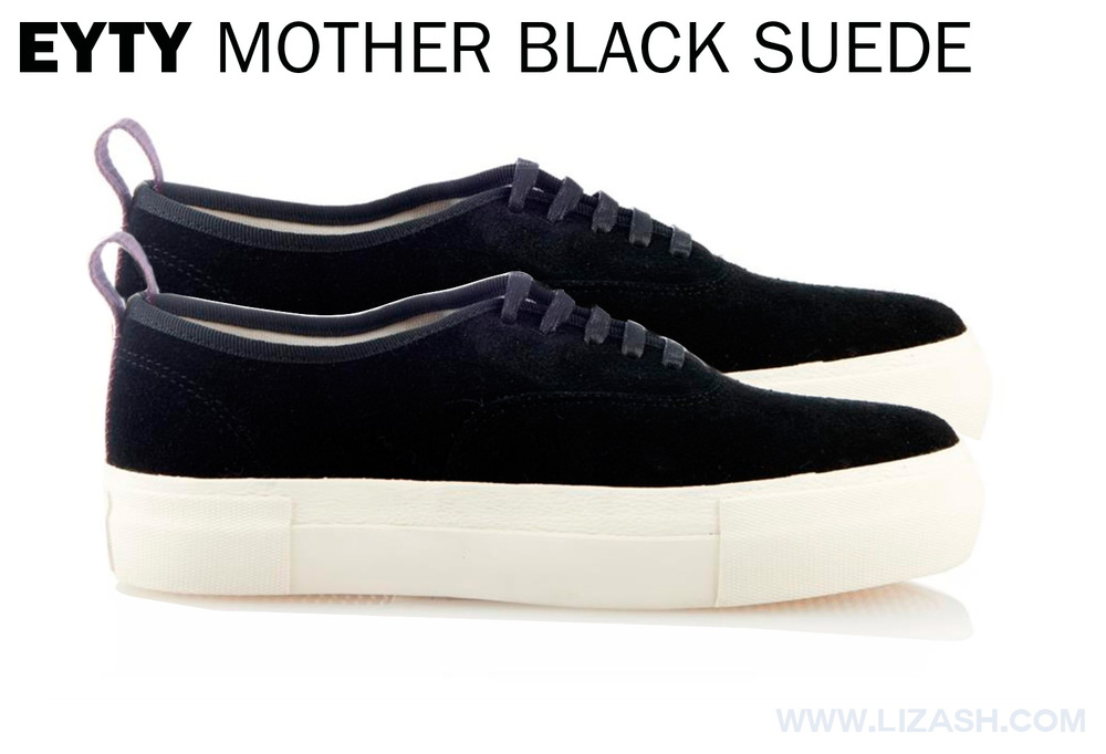 EYTYS MOTHER BLACK SUEDE LOW TOPS