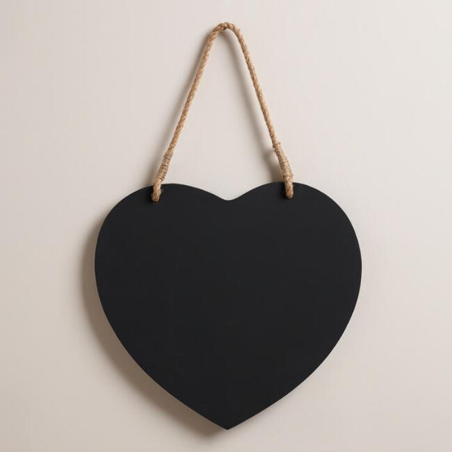 Heart Chalkboard. - Because you can write yourself a cool quote or something you need not forget or even draw a concept. It's useful and decorative. Plus, you can always erase and re-apply.
