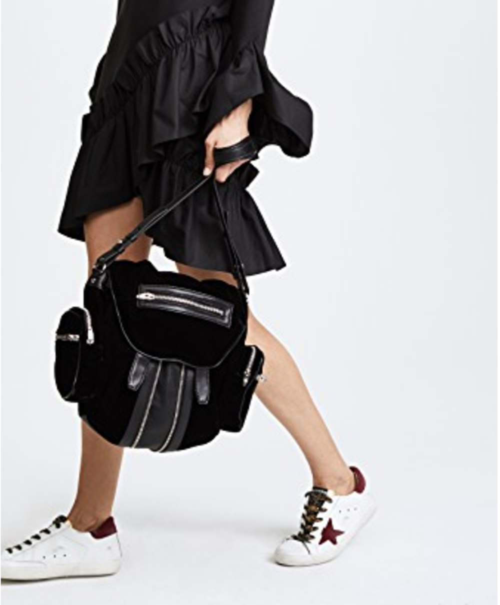 Image courtesy of Shopbop. Find this Alexander Wang Bag,  here . Golden Goose sneakers,  here .