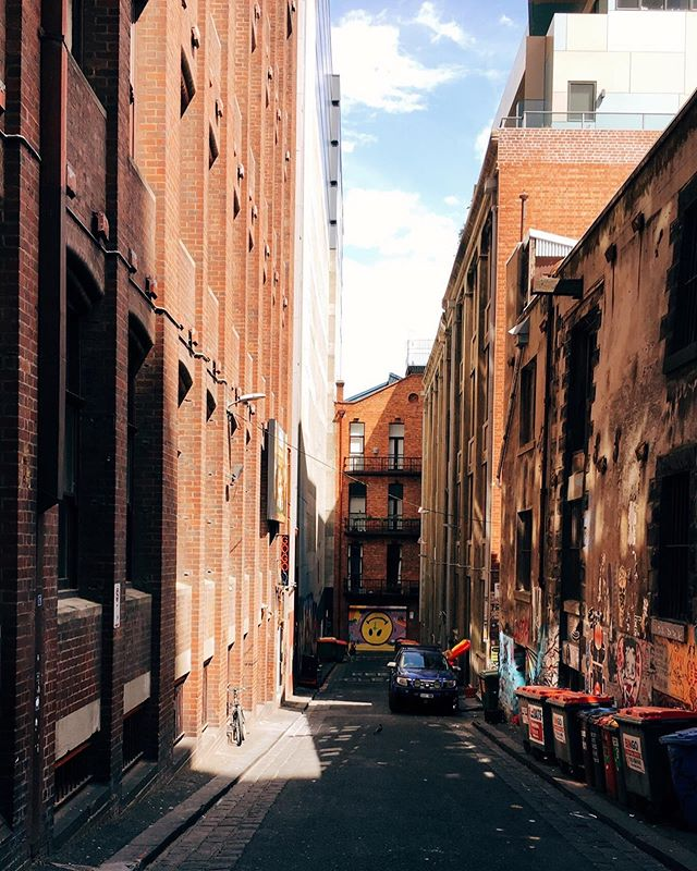 Melbourne and alley shadow play. | Dec '18 — — — — — #shadowplay #melbournearchitecture #australiatravel #travelphotography #seekmoments #lifewelltravelled