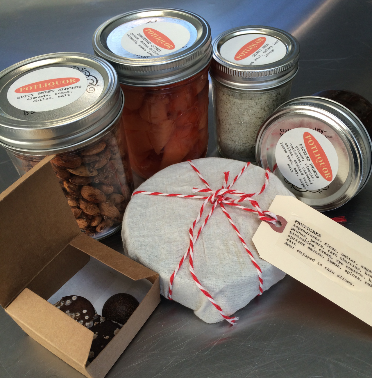 We're offering the Warmth menu again this week for pickup in Berkeley and San Francisco, as well as a shelf-stable version,  Gift . Both are available over at Square Marketplace, along with a few extras like pickled mushrooms, sriracha and stocks. Happy holidays!