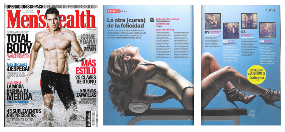 "Men's Health Spain, October 2014, ""Las Mujeres Mas En Forma de Instagram"