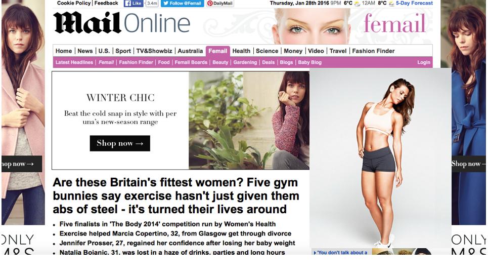 Mail Online, August 2014