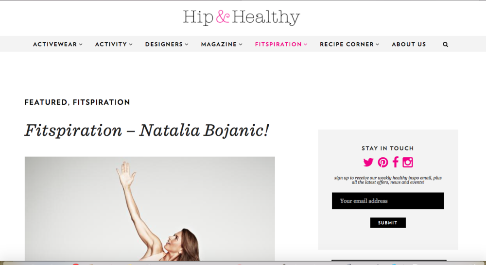 Hip & Healthly, Fitspiration, October 2014