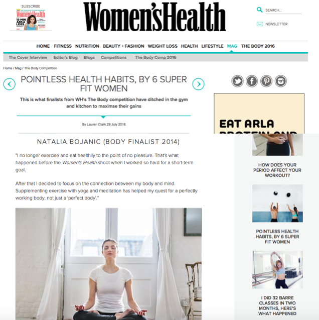 WomensHealth.co.uk  - July 2016