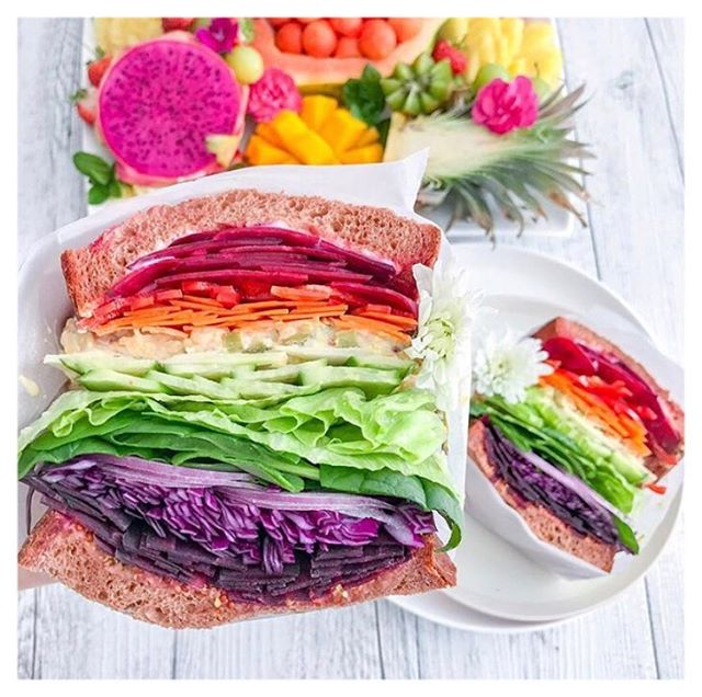 My eating philosophy: eat a rainbow and have a colourful life 🌈😋Thanks for the inspo @rawcrush . . Since my Health Holist course at @hippocratesinst I've noticed the power of eating raw foods 🌽🥦🌶 . .  When food is not processed they keep their vitamins, minerals, enzymes and phytonutrients, keeping you alive for longer 👵🏻👴🏾👵🏿👴🏻 . . . #longevity #vitality #plantbased #plantpower #raw #vegan #vegansofig #yummy #foodporn