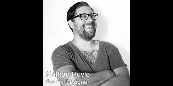 Nathan Ruyle  is a Los Angeles based cross-disciplinary artist, designer, producer, educator and technologist. He is the founder and managing designer of This is Sound Design , a studio and consulting company that creates sound and develops technology for traditional and new media. Notable projects include the feature filmsIt Felt Like LoveandThis is Martin Bonnerwhich premiered at the 2013 Sundance Film Festival, Cloud Eye Control's Multimedia OperaUnder Polaris, and many projects with Lars Jan/Early Morning Opera, including the sound and music for[AB][AC][US]. Nathan holds an MFA in Sound Design and Integrated Media from the California Institute of the Arts where he is currently adjunct faculty in the School of Film/Video and the Center for Integrated Media.