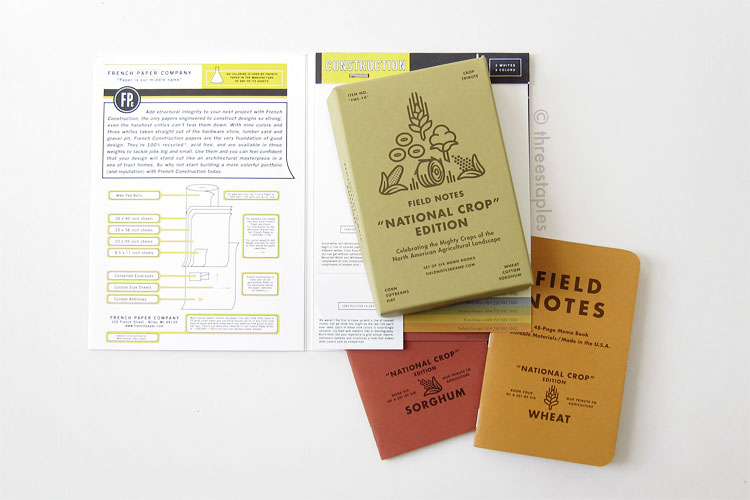 French Paper Co.'s Construction paper samples + Field Notes
