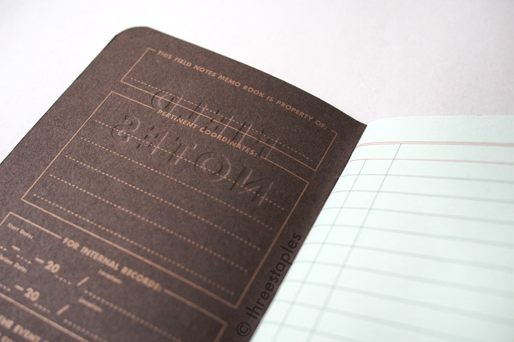 Embossed front cover