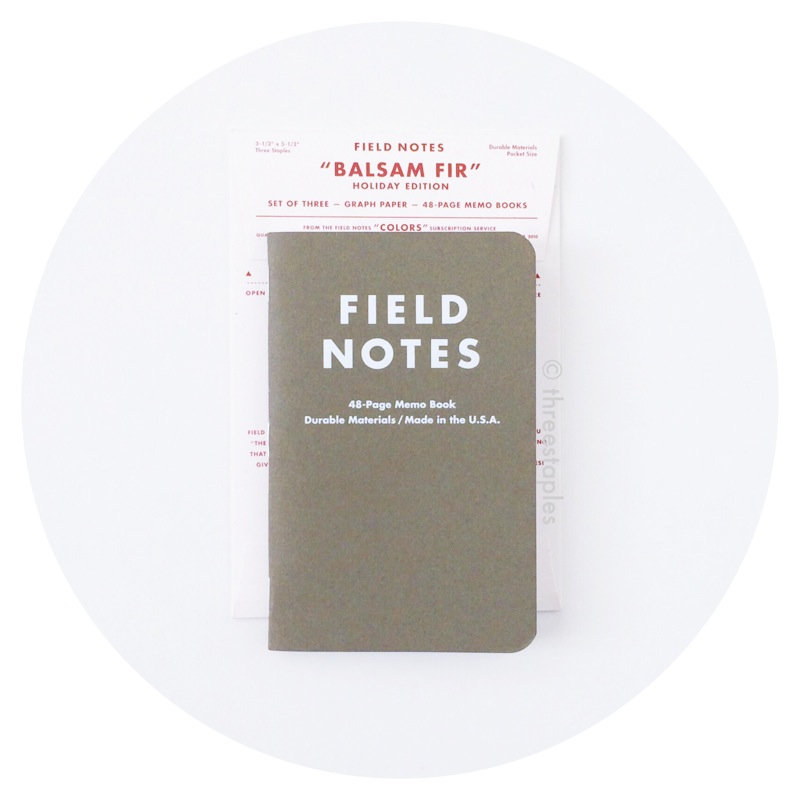Field Notes Colors: Balsam Fir (Winter 2010)