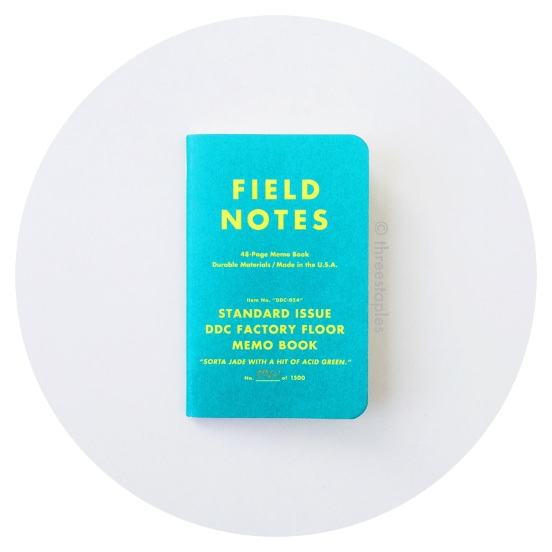 "Field Notes: DDC Standard Issue Factory Floor ""Sorta Jade"" (2013)"