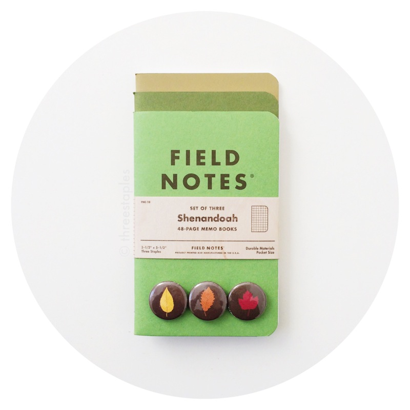 Field Notes Colors: Shenandoah (Fall 2015)