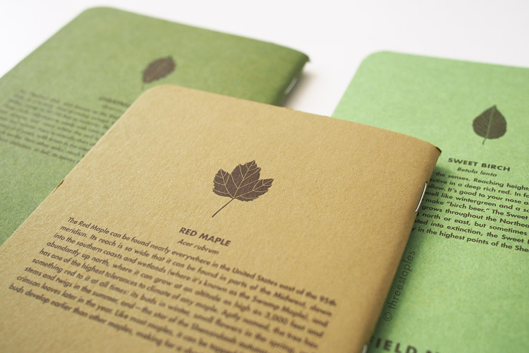 Small illustrations of leaves on the back covers. They are a departure from the more graphic style previously found in editions like National Crop, Drink Local, Arts & Sciences, and Workshop Companion. I like this change.