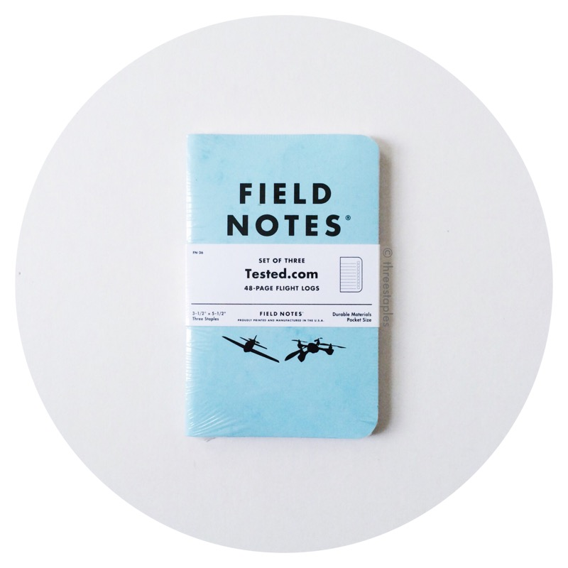 "Field Notes x Tested.com ""Flight Log"" (December 2015)"