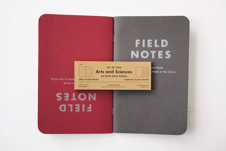 Another detail not to be missed: the belly band illustrates the two types of notebooks in A&S.